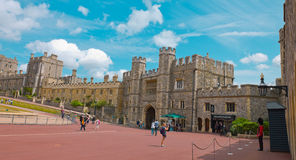 Stone ancient Windsor Castle. Famous touristic attraction Stock Images