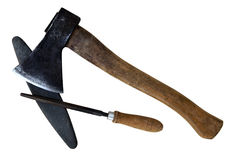 Stone And Rasp And Ax Stock Image