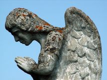 Stone angel. On a world war monument in Transylvania Royalty Free Stock Photos