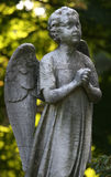 Stone Angel. A stone statue of an angel in prayer Stock Images