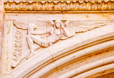 Stone Angel Arch Yale University Royalty Free Stock Photo