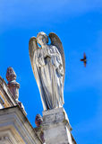 Stone Angel Dove Basilica of Lady of Rosary Fatima Portugal royalty free stock photography