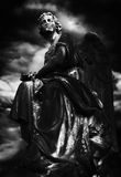 Dark Stone Angel Stock Photography
