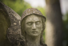 Stone angel sculpture Stock Photo
