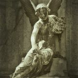 Stone angel statue Stock Images