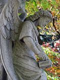 Stone angel statue Stock Photography