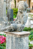 Stone Angel statue in ancient cemetery Royalty Free Stock Photography