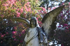 Stone Angel in Terrell Texas. This image was taken in Terrell Texas while driving around. I love images of Angels Stock Photos
