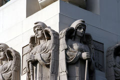 Stone Angels. On top of a building Stock Images