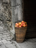 Stone and apples Royalty Free Stock Images