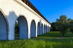 The stone aqueduct Stock Images