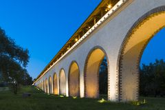 The stone aqueduct Stock Image