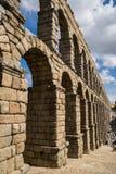 Stone aqueduct in Spain Stock Photo
