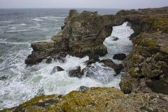Stone arc above the sea. Rock arc at Bulgarian Black Sea coast Stock Photos