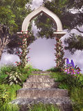 Stone arc in the garden Royalty Free Stock Photography