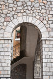 Stone arch. A stone arch in greece arachova Royalty Free Stock Photo
