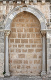 Stone arch. Round arch and columns in israel Royalty Free Stock Image