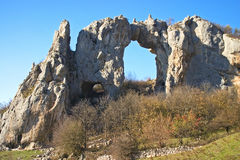 Stone arch. On a top of the hill, Republika Srpska, Bosnia Royalty Free Stock Image