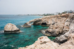Stone arch, Ayia Napa, Cyprus. Rocky cliff with stone arch, Ayia Napa, Cyprus Royalty Free Stock Photography