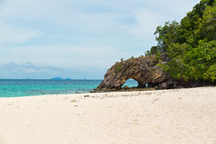 Stone arch with beautiful beach at Koh Khai in Andaman Sea,Tarut Stock Photos