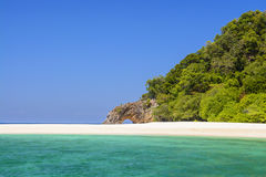 Stone arch with beautiful beach. At  Koh Lipe, Thailand Royalty Free Stock Photography