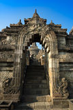 Stone arch at Borobudur Temple Stock Photography