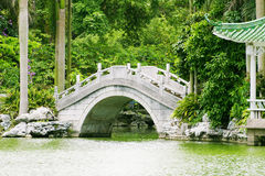 Stone arch bridge. A stone arch bridge in the beautiful park Royalty Free Stock Photography