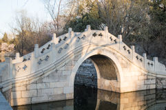 Stone arch bridge. Architecture developed from ancient times in China, and its compact shape and beautiful, it is subject to a lot of people at home and abroad Stock Images