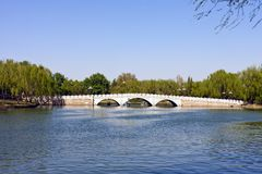 Stone arch bridge of Beijing, China Stock Photography