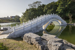 Stone arch bridge. Chinese traditional style stone arch bridge in garden Royalty Free Stock Photos