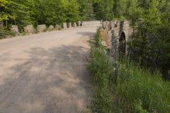 Stone Arch Bridge Falls Royalty Free Stock Images