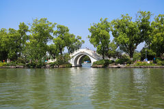 Stone arch bridge in guilin Royalty Free Stock Photo