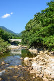 Stone Arch Bridge on Houhe River stock photo