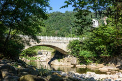 Stone Arch Bridge on Houhe River stock photography