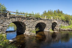 Stone arch bridge Jamtland Stock Photos