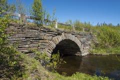 Stone arch bridge Jamtland Stock Photo