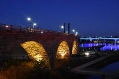 Stone Arch Bridge in Minneapolis. Minnesota Royalty Free Stock Photo