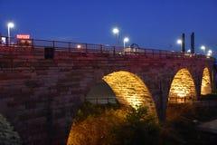 Stone Arch Bridge in Minneapolis. Minnesota Royalty Free Stock Photos
