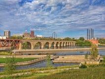Stone Arch Bridge, Minneapolis, Minnesota Stock Images