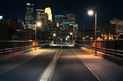 Stone Arch Bridge at Night Royalty Free Stock Images