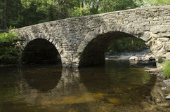 Stone Arch Bridge over Ten Mile River, Tusten NY Stock Photography