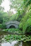 Stone arch bridge. This photo was taken in Nanjing China Green Expo Garden ,Nanjing city, Jiangsu province, china Royalty Free Stock Photo