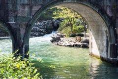 Stone arch bridge Stock Image