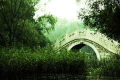 A Stone Arch Bridge Royalty Free Stock Image