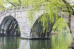 Stone arch bridge Stock Photography
