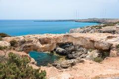 Stone Arch on Cape Greko. Ayia Napa, Cyprus Royalty Free Stock Photography