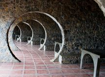 Stone Arch Cottage Hallway royalty free stock photography