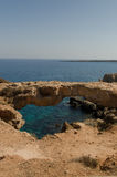 Stone Arch. Cyprus seacoast  Cape Greco National Park Stock Photography