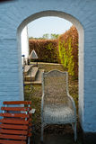 Stone arch gate Stock Image