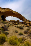 Stone arch near San Miguel de Tajao on Tenerife island Royalty Free Stock Images